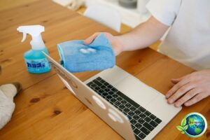 disinfecting laptop cleaning