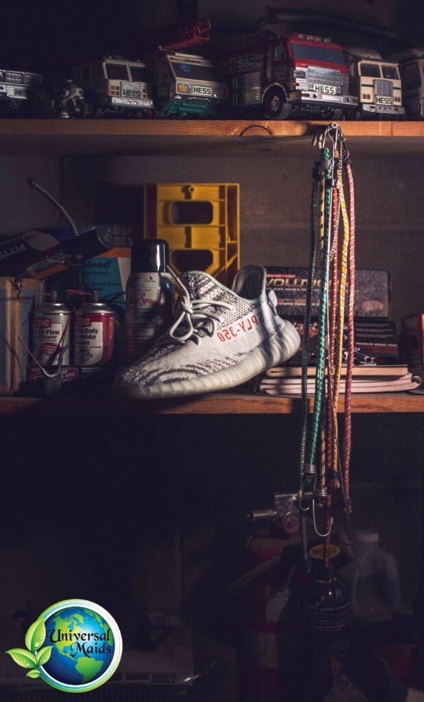 A messy garage