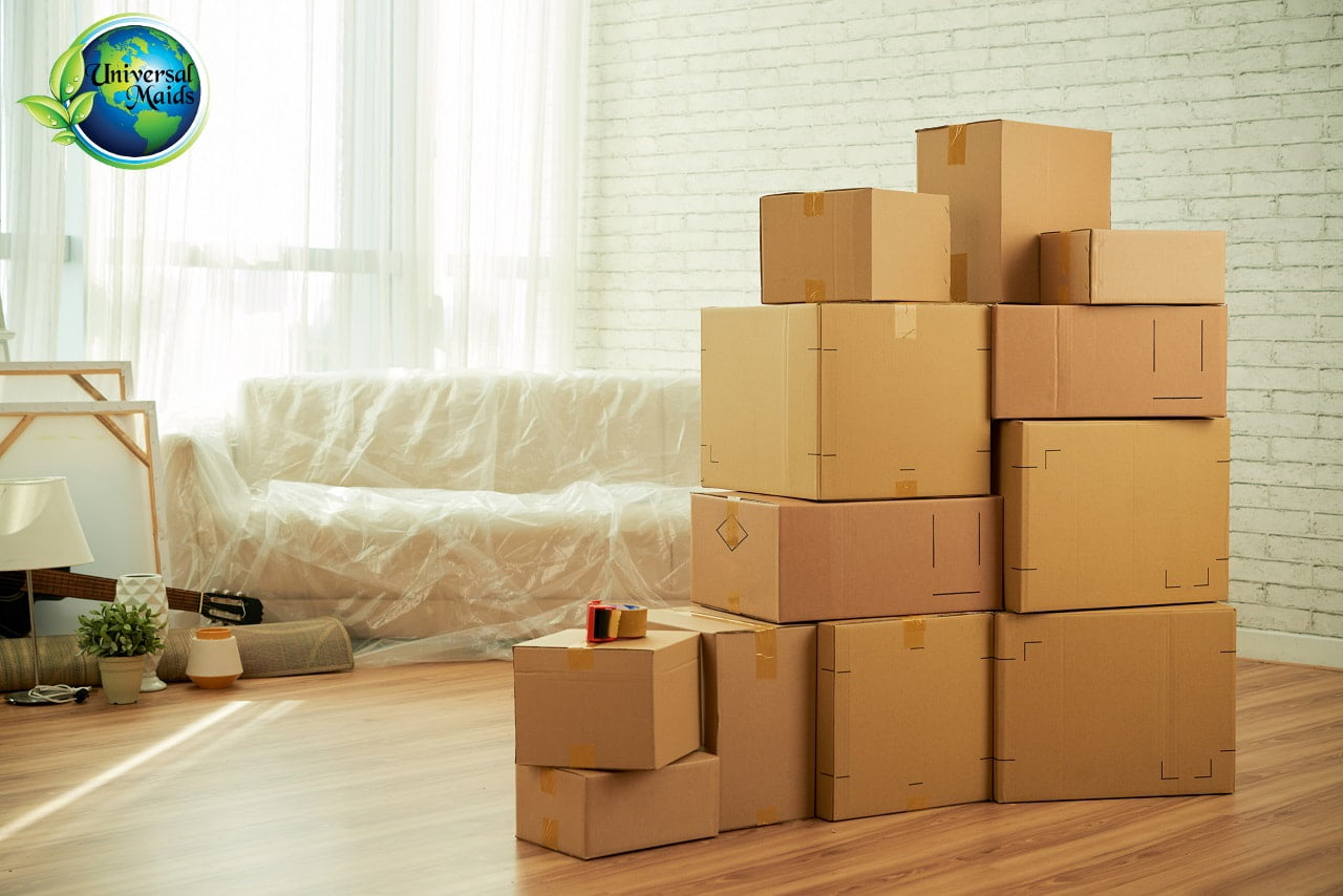 Boxes in home Moving Cleaning