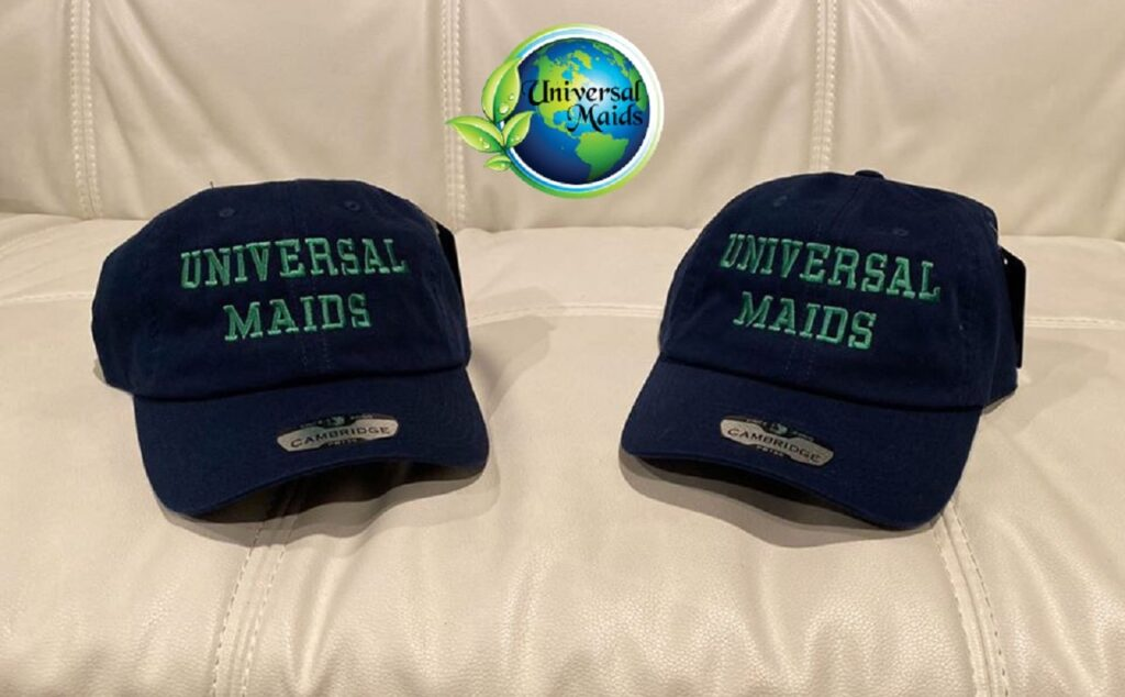 2hats with universalmaids logo