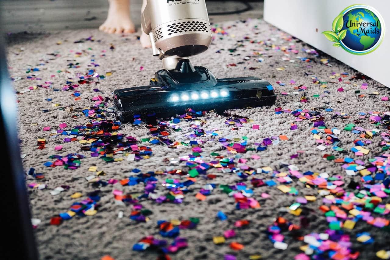 Vacuum event cleaning