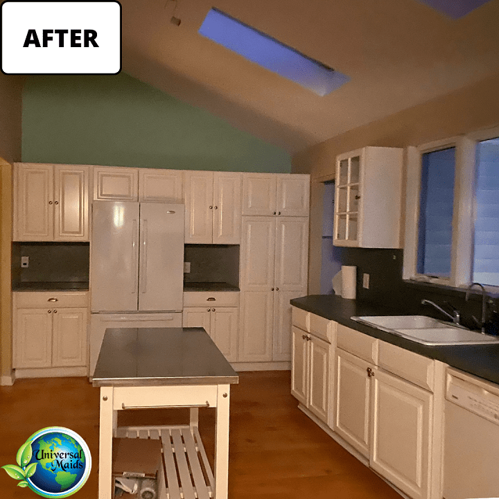 After cleaning the kitchen