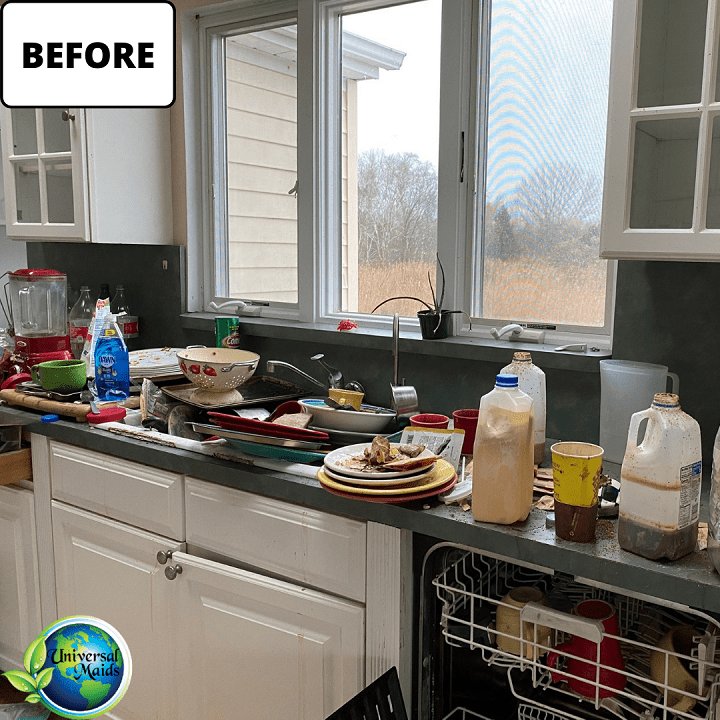 Before cleaning the kitchen