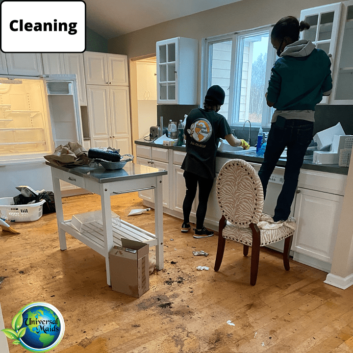Maids are cleaning
