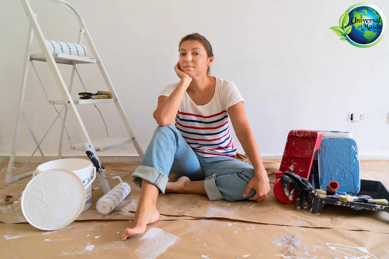 A woman is going to remove large items